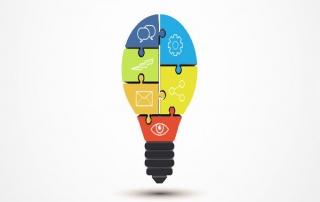 puzzle-ideas-colors-pice-light-bubble-fit-different-topic-business-build-presentation-template